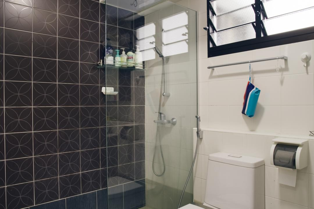 Kang Ching Road, Boewe Design, Minimalistic, Bathroom, HDB, Shower, Appliance, Electrical Device, Washer