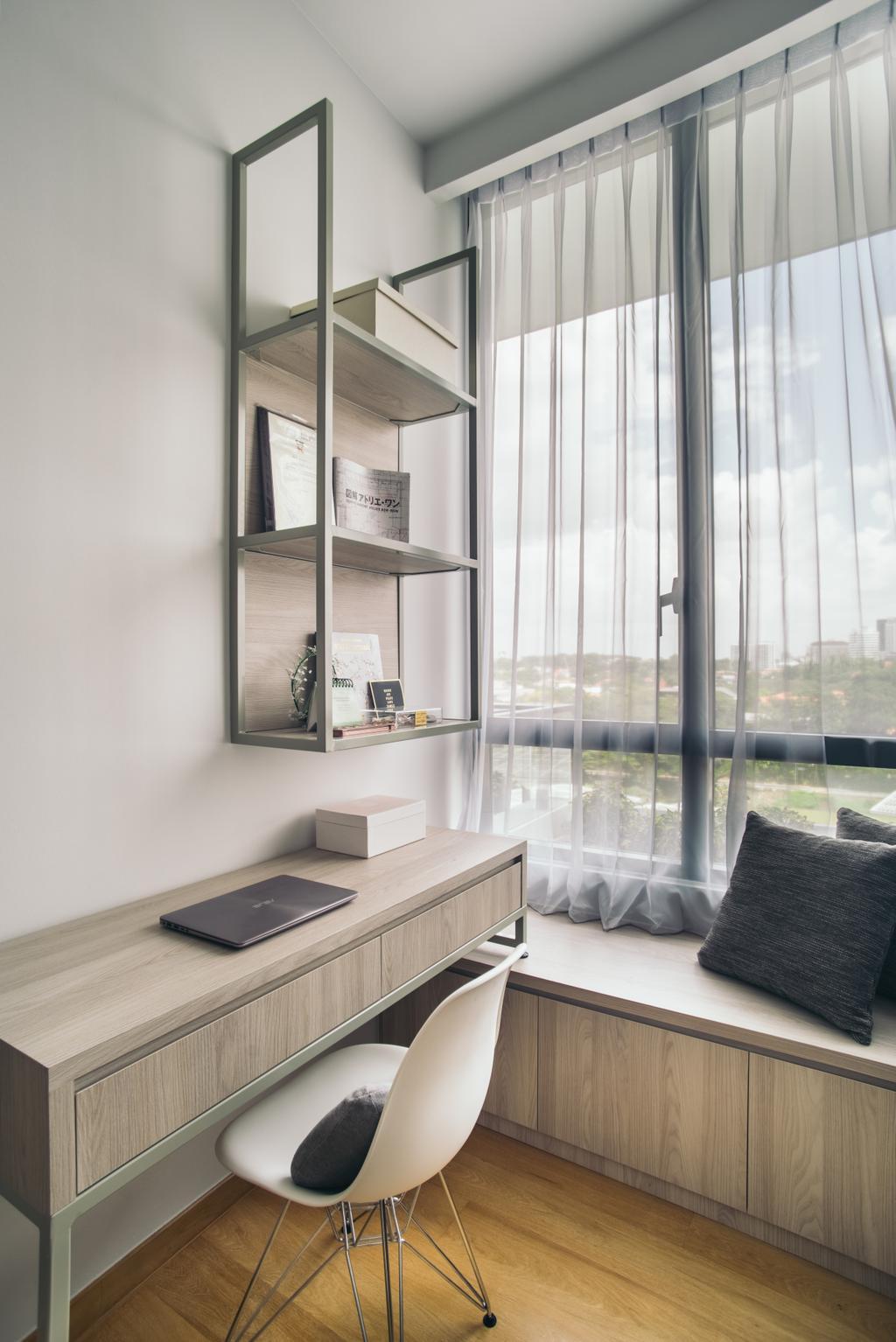Contemporary, Condo, Study, The Crest, Interior Designer, Boewe Design, Shelf, Indoors, Interior Design
