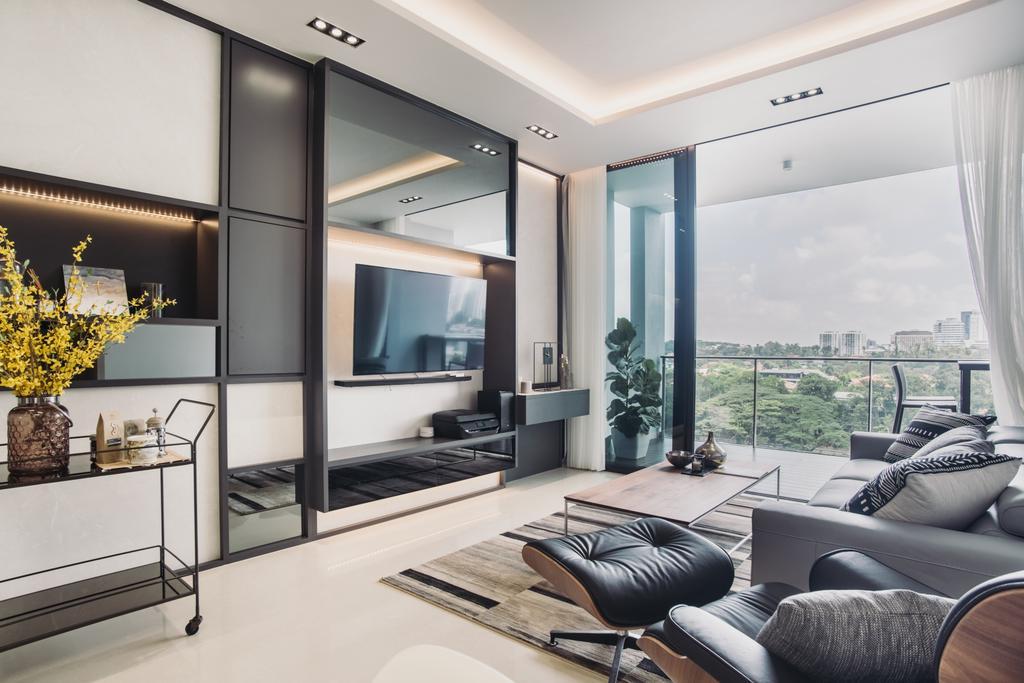 Contemporary, Condo, Living Room, The Crest, Interior Designer, Boewe Design, Couch, Furniture, Indoors, Interior Design, Electronics, Entertainment Center, HDB, Building, Housing