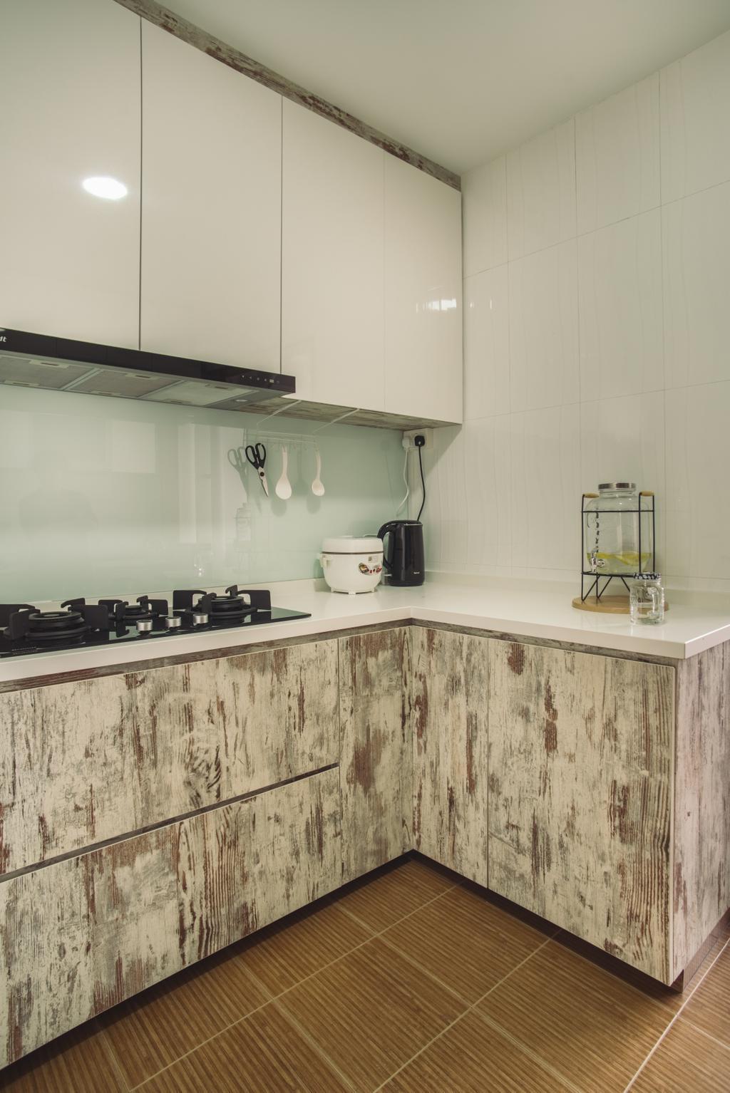 Scandinavian, HDB, Kitchen, Senja Road, Interior Designer, Boewe Design, Indoors, Interior Design, Room