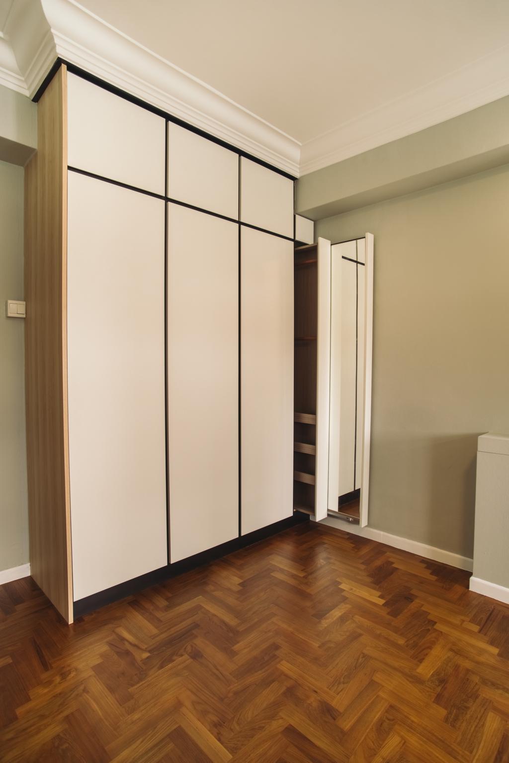 Scandinavian, HDB, Senja Road, Interior Designer, Boewe Design, Closet, Furniture, Wardrobe