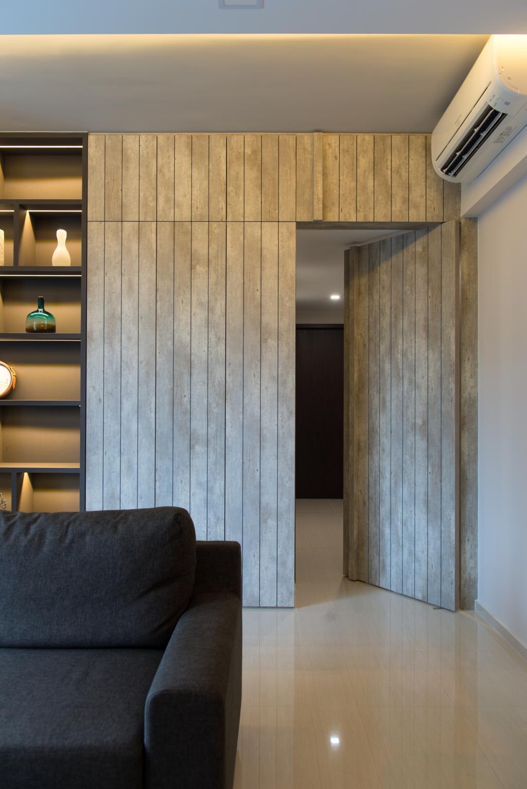Modern, Condo, Living Room, D'Nest, Interior Designer, Dyel Design, Couch, Furniture