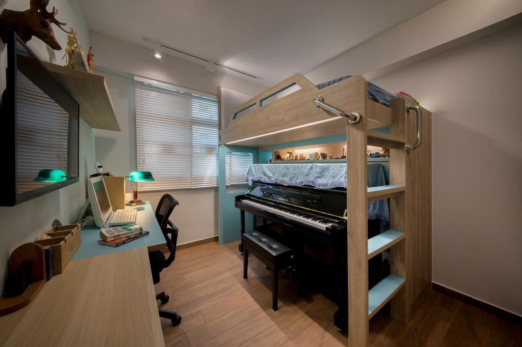 Modern, HDB, Study, Yishun Ring Road, Interior Designer, Starry Homestead, Leisure Activities, Music, Musical Instrument, Piano, Sink
