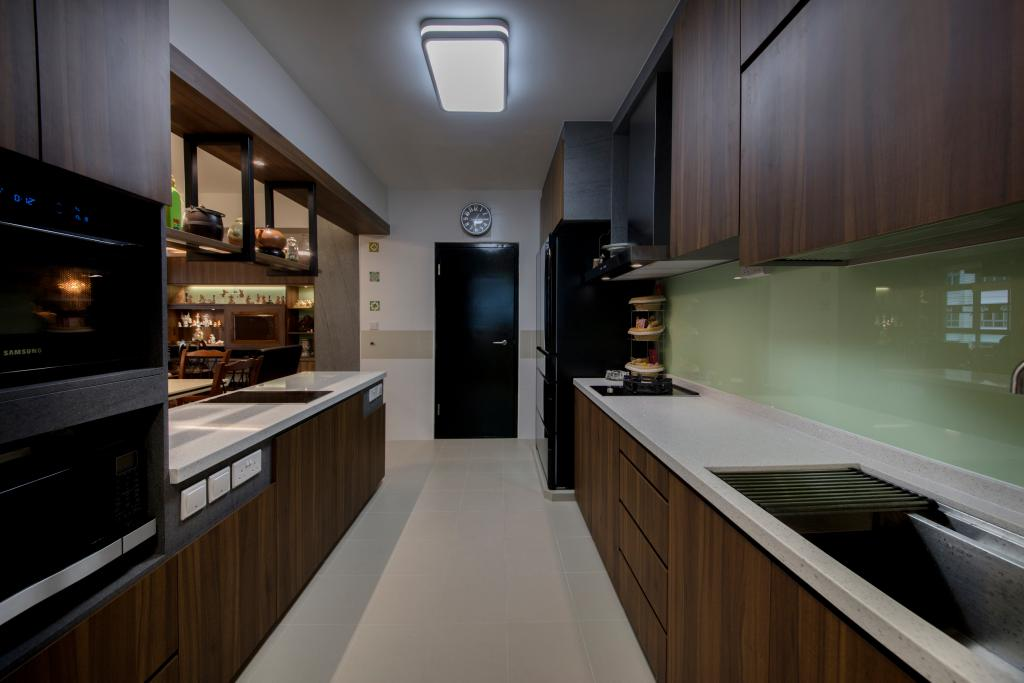 Modern, HDB, Yishun Ring Road, Interior Designer, Starry Homestead, Indoors, Interior Design, Kitchen, Room, Appliance, Electrical Device, Oven