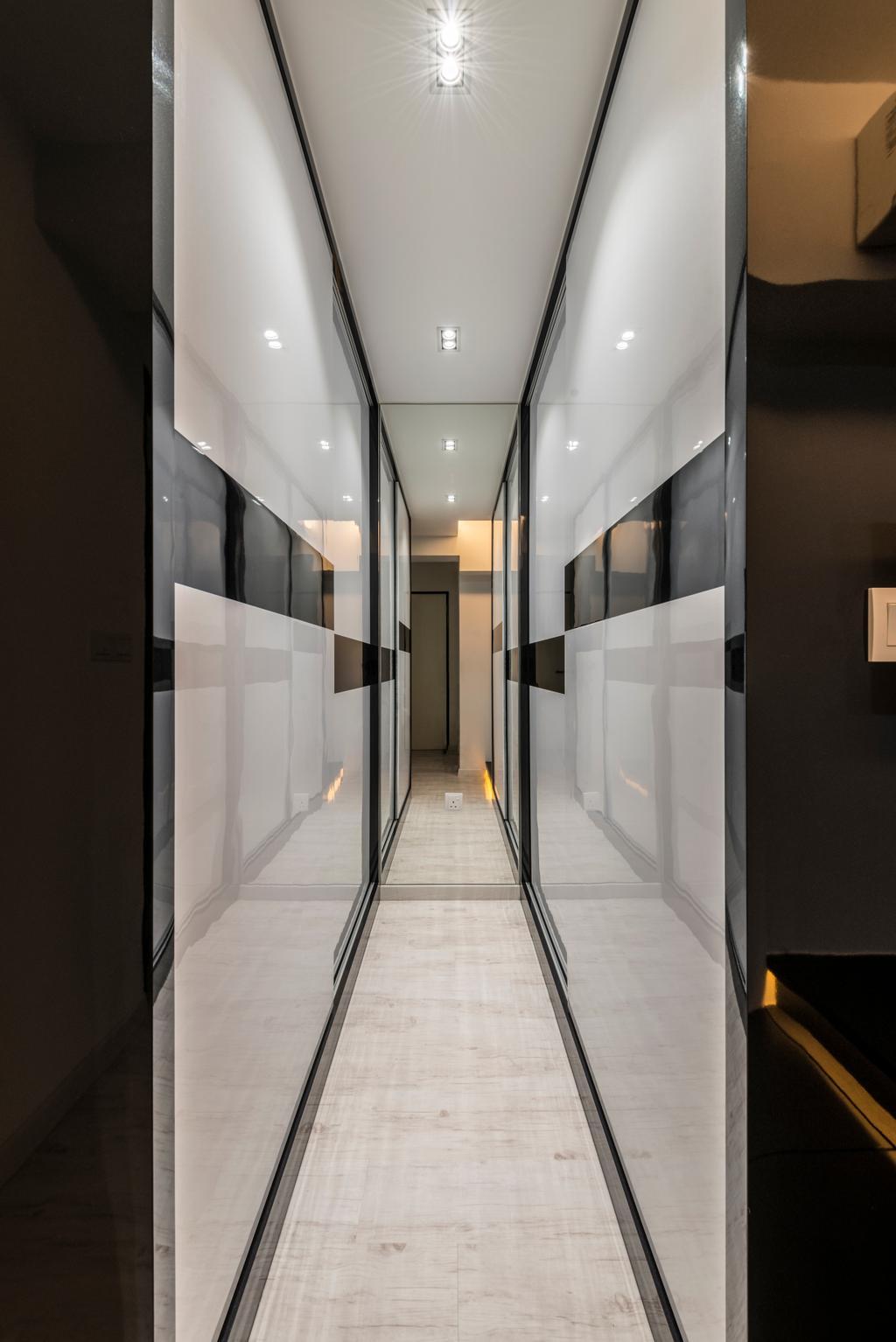 Modern, HDB, Upper Serangoon Crescent, Interior Designer, Fifth Avenue Interior, Corridor