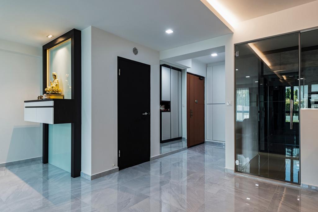 Modern, HDB, Upper Serangoon Crescent, Interior Designer, Fifth Avenue Interior, Flooring