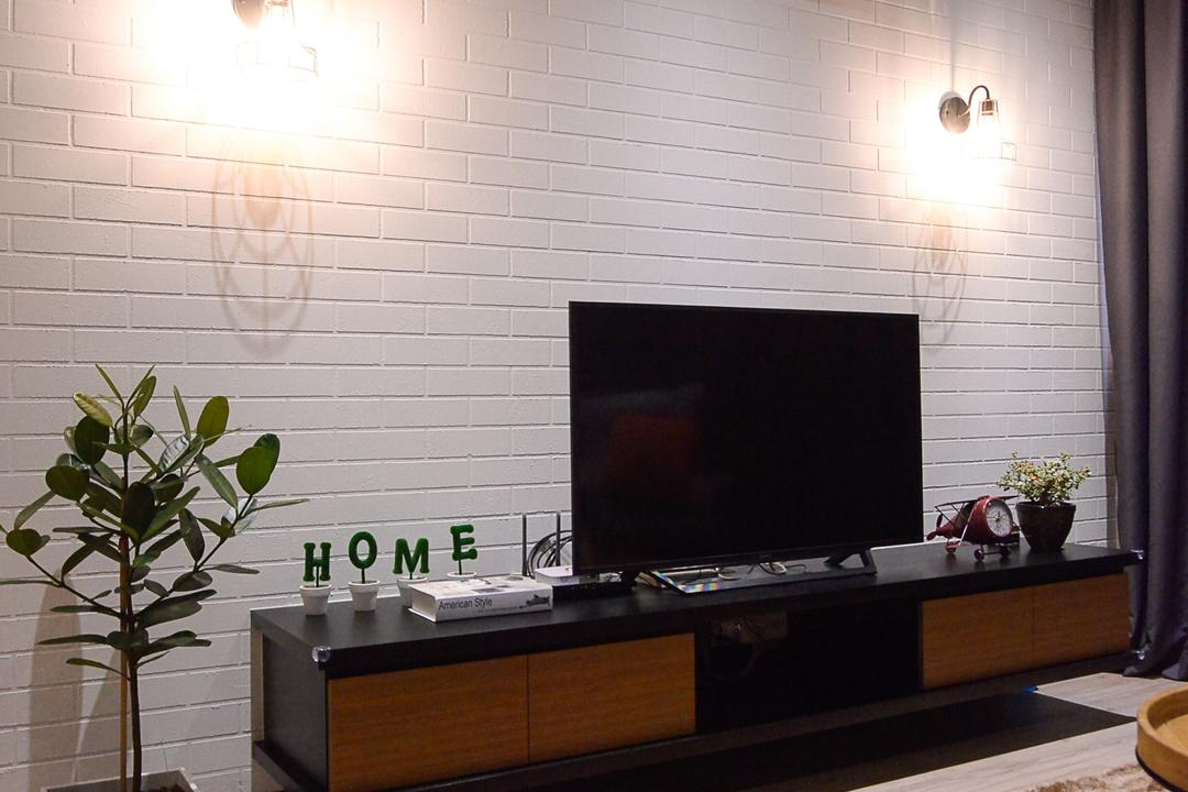 Aurora Residence, Puchong, RK Interior Studio, Modern, Condo, Flora, Jar, Plant, Potted Plant, Pottery, Vase, Indoors, Interior Design, Electronics, Lcd Screen, Monitor, Screen