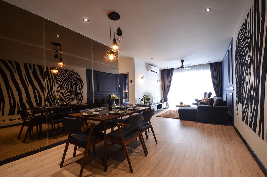 Modern, Condo, Aurora Residence, Puchong, Interior Designer, RK Interior Studio, Dining Table, Furniture, Table, Dining Room, Indoors, Interior Design, Room, Chair