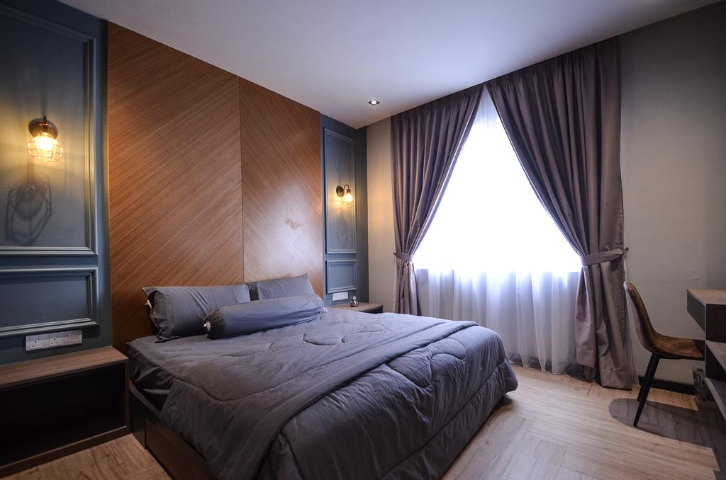 Modern, Condo, Aurora Residence, Puchong, Interior Designer, RK Interior Studio, Indoors, Room, Bedroom, Interior Design