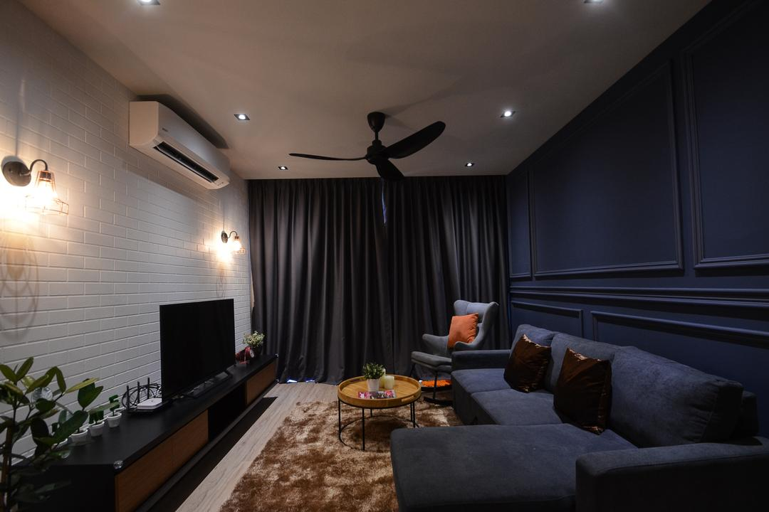 Aurora Residence, Puchong, RK Interior Studio, Modern, Condo, Couch, Furniture, Luggage, Suitcase, Flora, Jar, Plant, Potted Plant, Pottery, Vase, Indoors, Interior Design
