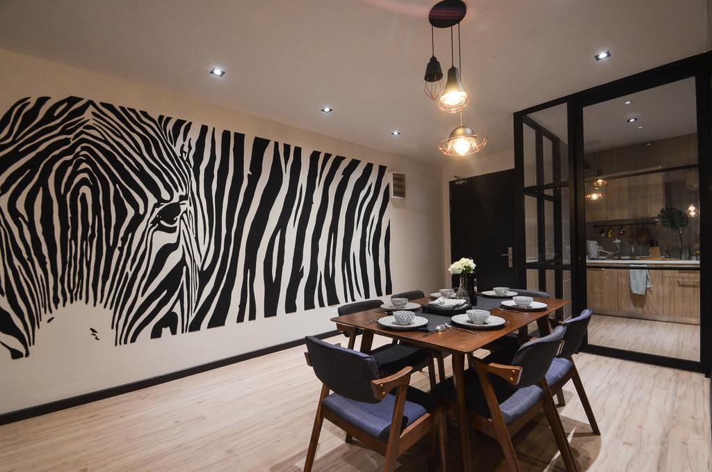 Modern, Condo, Aurora Residence, Puchong, Interior Designer, RK Interior Studio, Chair, Furniture, Dining Table, Table, Dining Room, Indoors, Interior Design, Room, Restaurant
