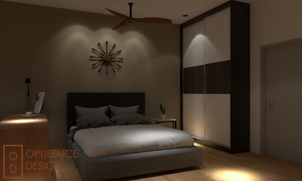 Condo, Condo, Petaling Jaya, Interior Designer, Opulence Design, Clock, Wall Clock, Door, Sliding Door, Bedroom, Indoors, Interior Design, Room