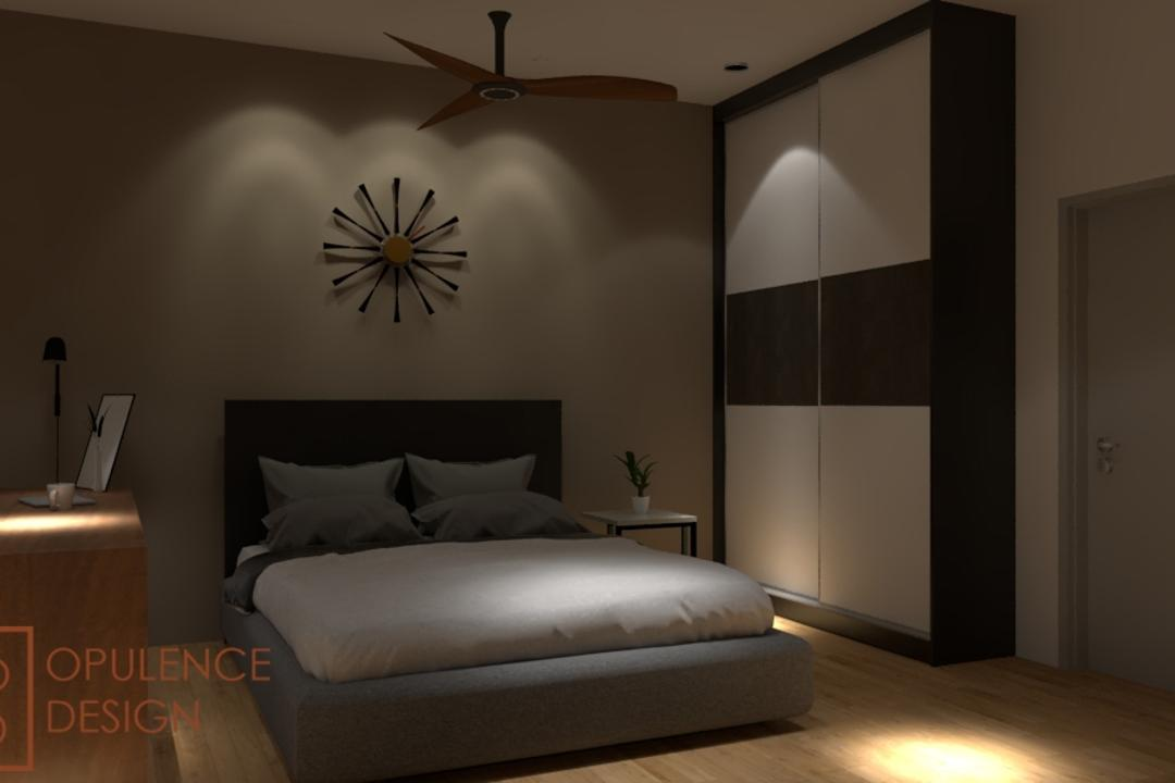 Condo, Petaling Jaya, Opulence Design, Condo, Clock, Wall Clock, Door, Sliding Door, Bedroom, Indoors, Interior Design, Room