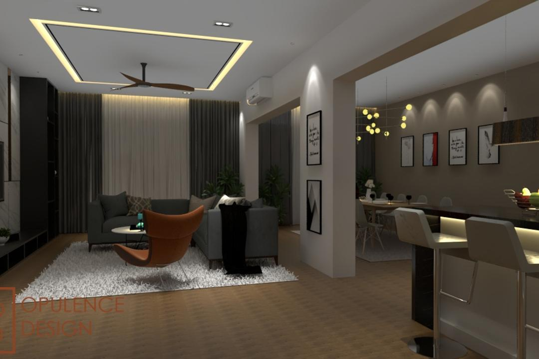 Condo, Petaling Jaya, Opulence Design, Condo, Couch, Furniture, Indoors, Interior Design, Appliance, Electrical Device, Oven