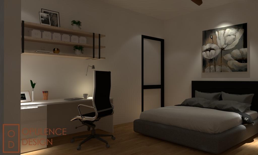 Condo, Condo, Petaling Jaya, Interior Designer, Opulence Design, Shelf, Chair, Furniture, Bed, Art, Modern Art