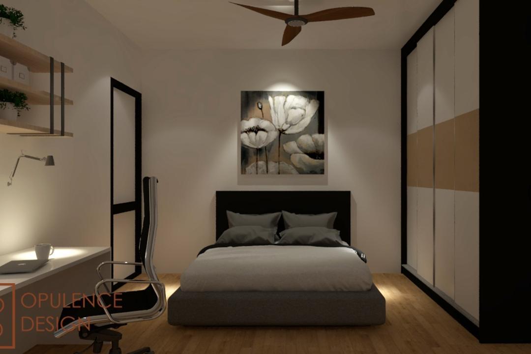 Condo, Petaling Jaya, Opulence Design, Condo, Banister, Handrail, Indoors, Interior Design, Art, Modern Art, Bedroom, Room