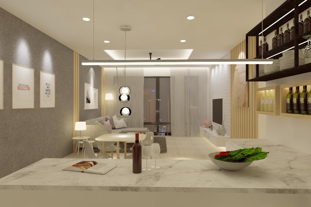 Potpourri Residences, KL, Opulence Design, Condo, Bowl, Couch, Furniture, Indoors, Interior Design