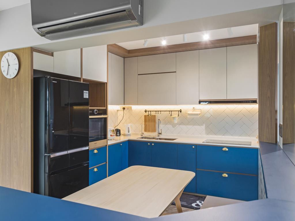 Contemporary, HDB, Kitchen, Edgedale Plains, Interior Designer, ELPIS Interior Design