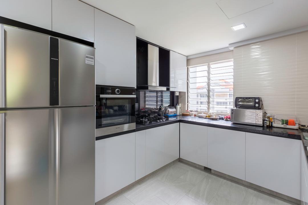 Upper Bukit Timah View, MET Interior, Modern, Bathroom, Condo, Appliance, Electrical Device, Oven, Door, Sliding Door, Microwave, Triangle