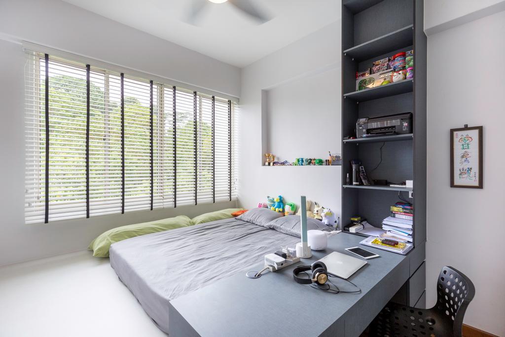 Modern, Condo, Study, Upper Bukit Timah View, Interior Designer, MET Interior, Bedroom, Indoors, Interior Design, Room, Clothing, Footwear, High Heel, Shoe
