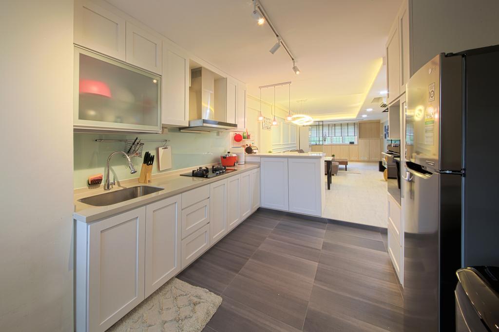 Scandinavian, HDB, Kitchen, Bedok, Interior Designer, Dap Atelier