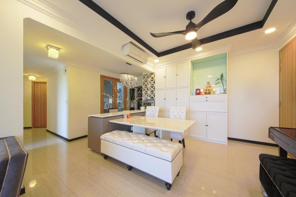 Modern, Condo, Dining Room, Flo Residence, Interior Designer, Dap Atelier, Couch, Furniture, Ottoman, Indoors, Interior Design