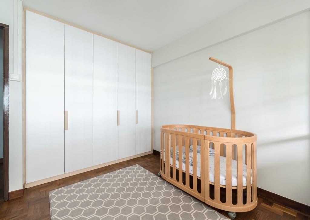 Scandinavian, HDB, Bedroom, Jalan Rajah, Interior Designer, Fifth Avenue Interior, Nursery, Baby Cot, Crib, Kids Room, Furniture, Indoors, Room