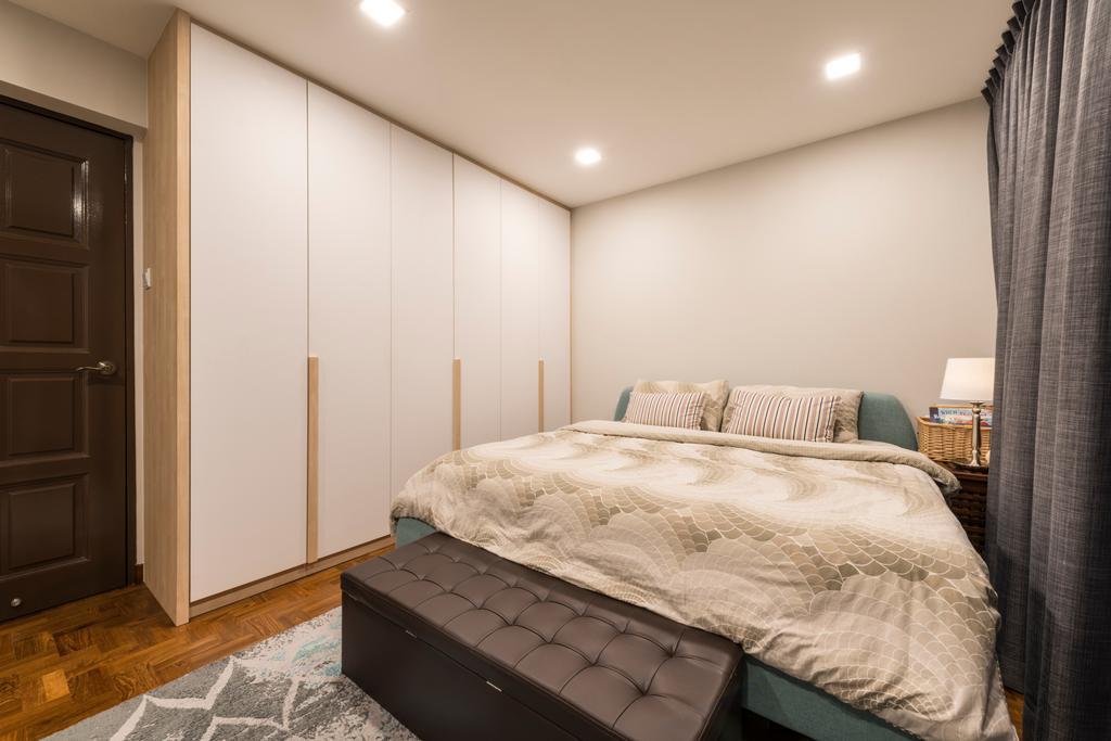 Scandinavian, HDB, Bedroom, Jalan Rajah, Interior Designer, Fifth Avenue Interior, Bed, Furniture, Indoors, Interior Design, Room