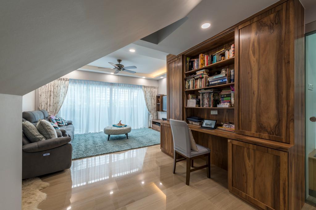 Scandinavian, HDB, Living Room, Jalan Rajah, Interior Designer, Fifth Avenue Interior, Indoors, Interior Design, Couch, Furniture, Flooring, Chair
