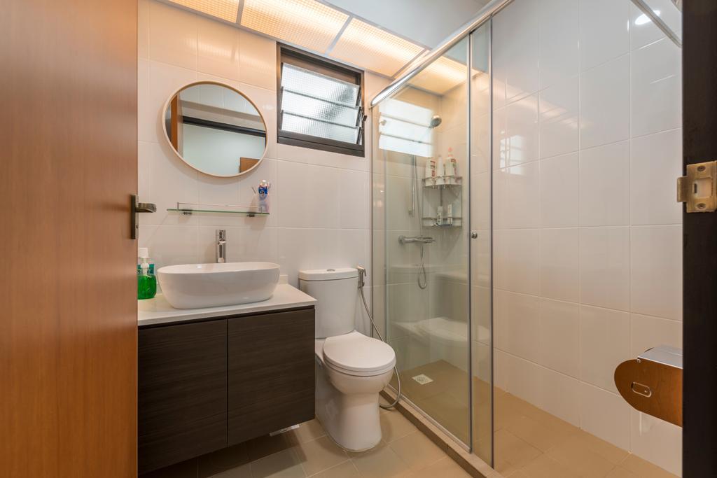 Modern, HDB, Bathroom, Edgedale Plains, Interior Designer, Fifth Avenue Interior, Toilet, Indoors, Interior Design, Room, Cardboard