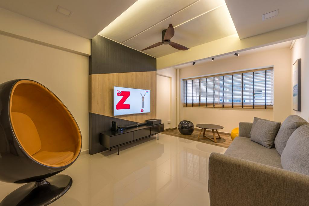 Modern, HDB, Living Room, Woodlands Avenue 6, Interior Designer, Fifth Avenue Interior, Contemporary, Couch, Furniture, Indoors, Interior Design, Room