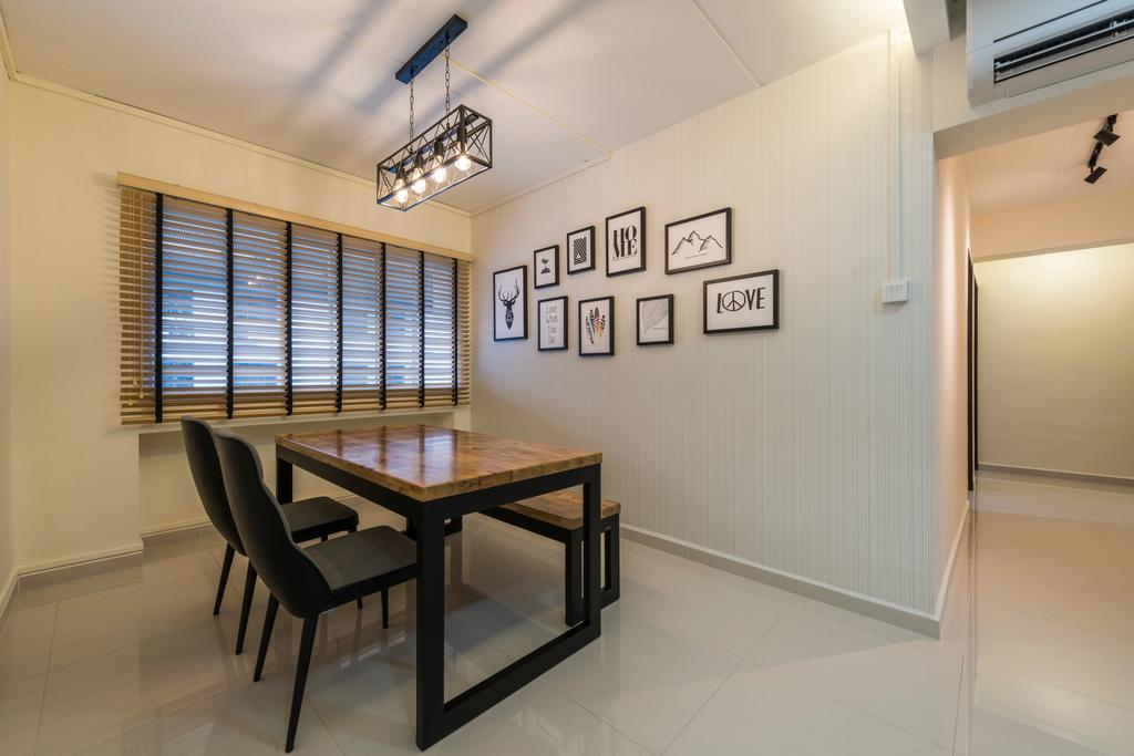 Modern, HDB, Dining Room, Woodlands Avenue 6, Interior Designer, Fifth Avenue Interior, Contemporary, Chair, Furniture, Dining Table, Table, Indoors, Interior Design, Room