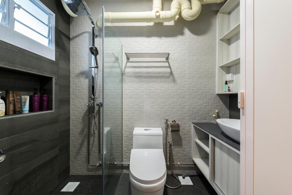 Modern, HDB, Bathroom, Woodlands Avenue 6, Interior Designer, Fifth Avenue Interior, Contemporary, Indoors, Interior Design, Room, Toilet
