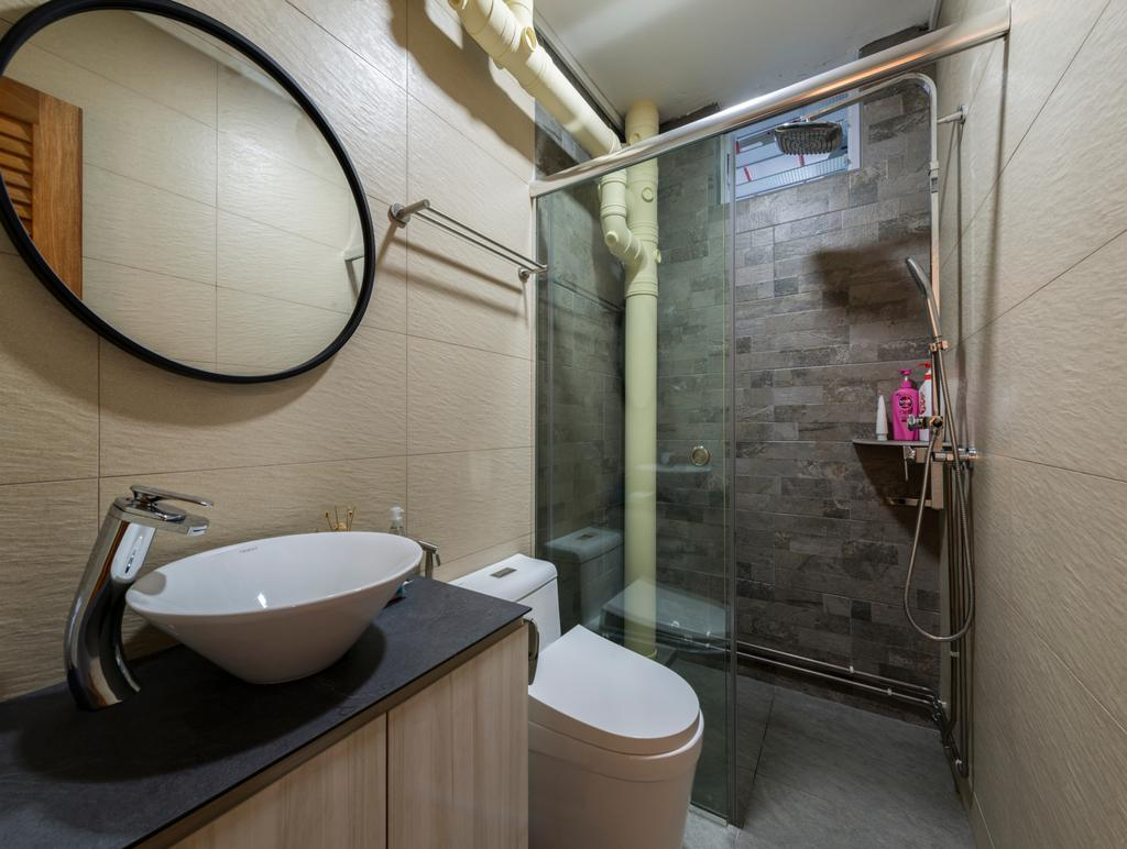Modern, HDB, Bathroom, Woodlands Avenue 6, Interior Designer, Fifth Avenue Interior, Contemporary, Toilet