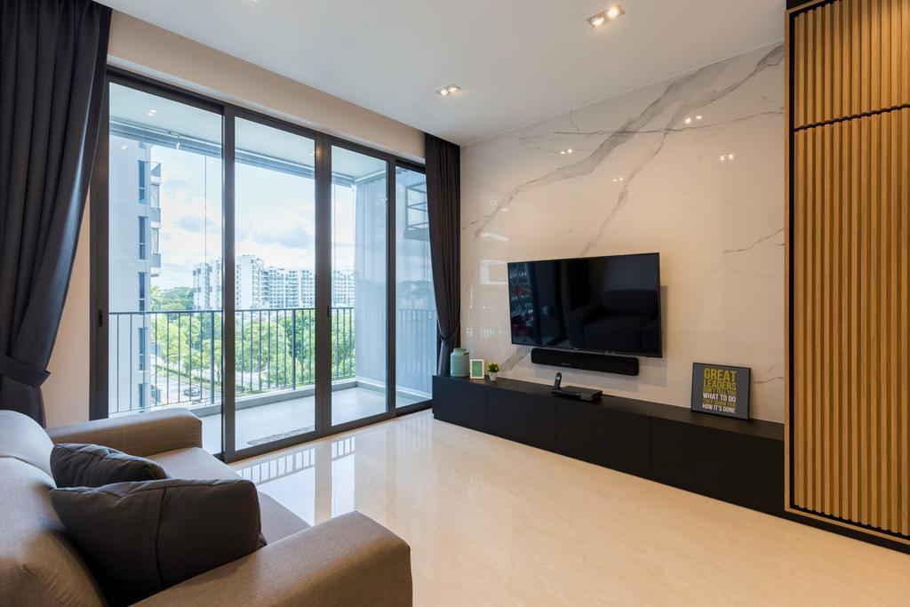Scandinavian, Condo, Living Room, Signature @ Yishun, Interior Designer, Charlotte's Carpentry, Indoors, Interior Design, Couch, Furniture, HDB, Building, Housing