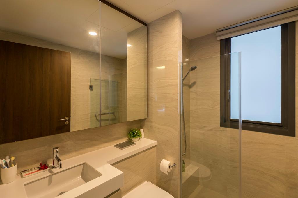 Scandinavian, Condo, Bathroom, Signature @ Yishun, Interior Designer, Charlotte's Carpentry, Sink, Indoors, Interior Design, Room