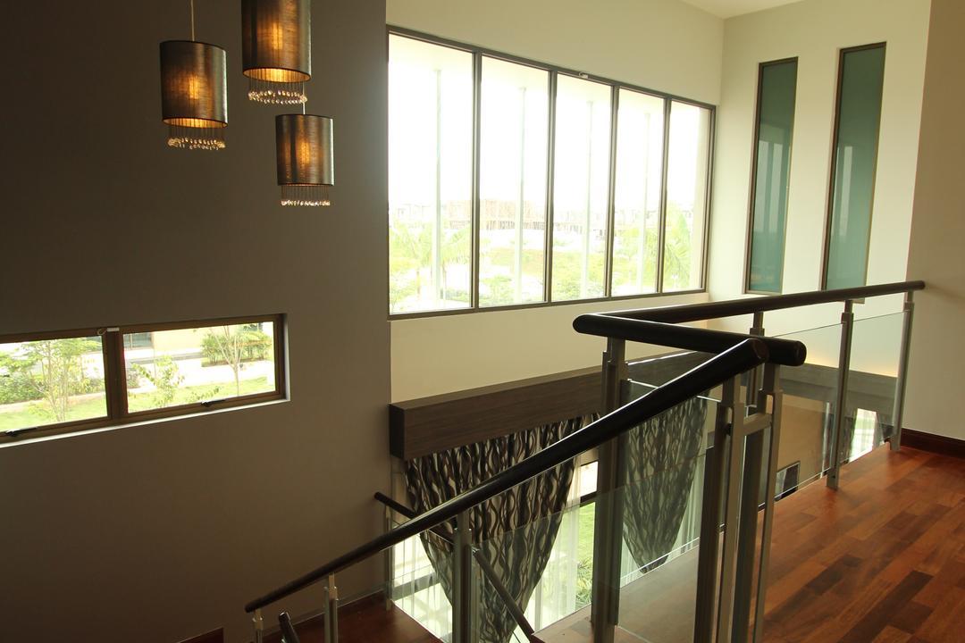 Seri Austin Show House - A, Morse Interior Design, Traditional, Landed, Stair, Staircase, Wood Floor, Wooden Flooring, Parquet, Pendant Lamp, Pendant Lighting, Banister, Handrail