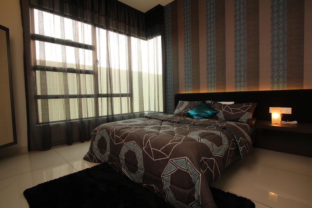 Seri Austin Show House - A, Morse Interior Design, Traditional, Bedroom, Landed, Quilt, Blanket, Bed, Wallpaper, Curtain, Carpet, Furniture, Indoors, Interior Design, Room