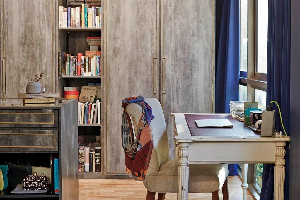 Eclectic, Condo, Study, The Inflora, Interior Designer, Fuse Concept, Chair, Furniture, Bookcase, Architecture, Building, Column, Pillar