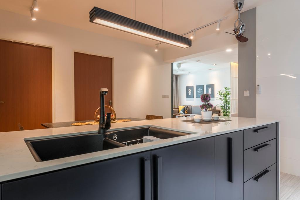 Contemporary, HDB, Kitchen, Yishun Street 51, Interior Designer, Fifth Avenue Interior, Indoors, Interior Design, Room