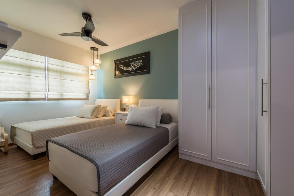 Contemporary, HDB, Bedroom, Yishun Street 51, Interior Designer, Fifth Avenue Interior, Bed, Furniture, Indoors, Interior Design