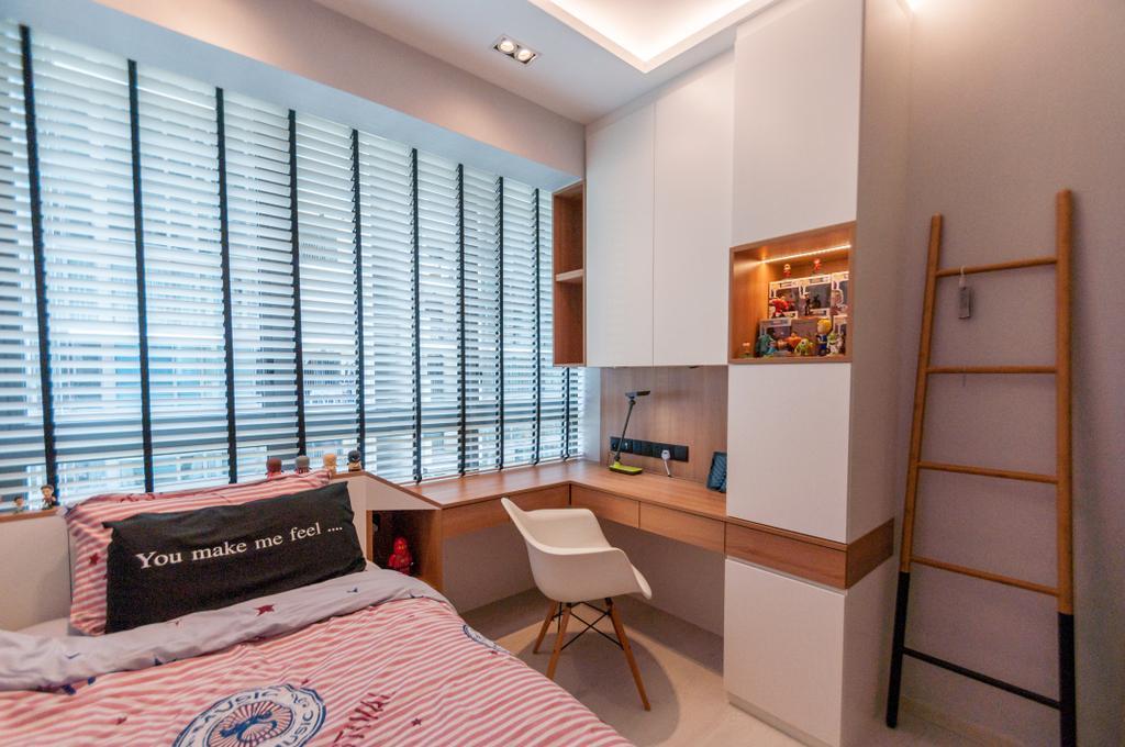 Modern, Condo, Bedroom, The Terrace, Interior Designer, Space Atelier, Minimalistic, Indoors, Interior Design, Room, Chair, Furniture