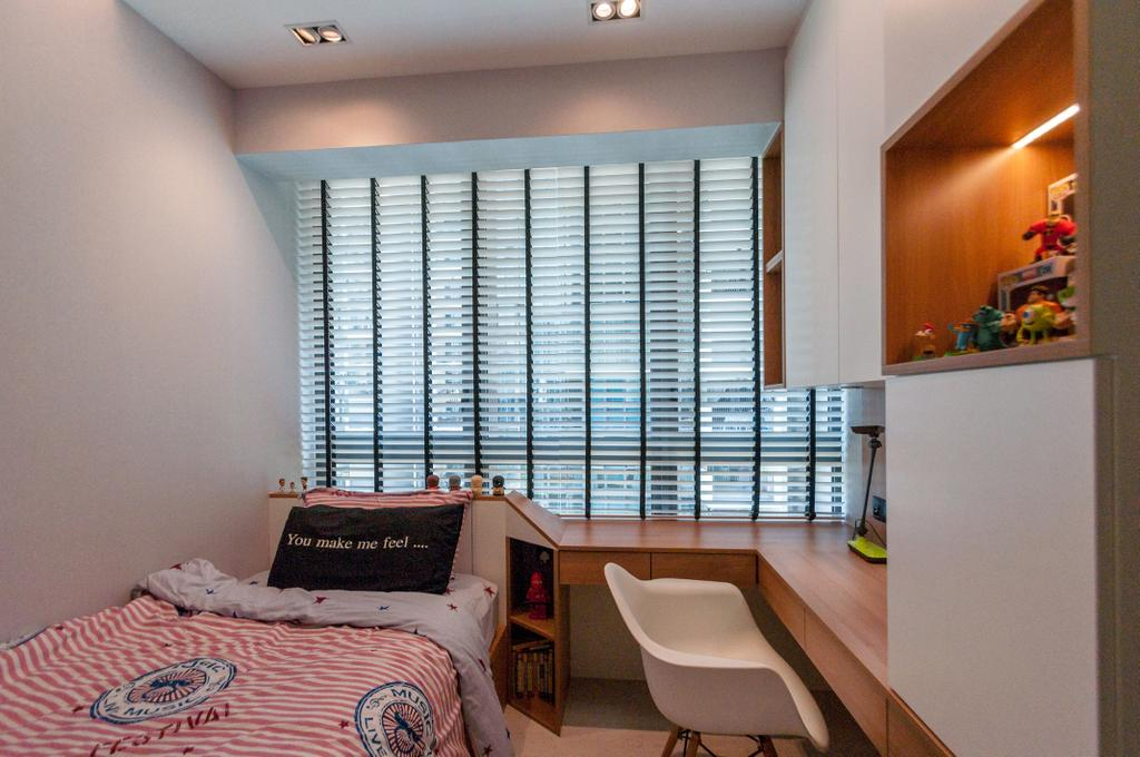 Modern, Condo, Bedroom, The Terrace, Interior Designer, Space Atelier, Minimalistic, Chair, Furniture, Sink, Shelf
