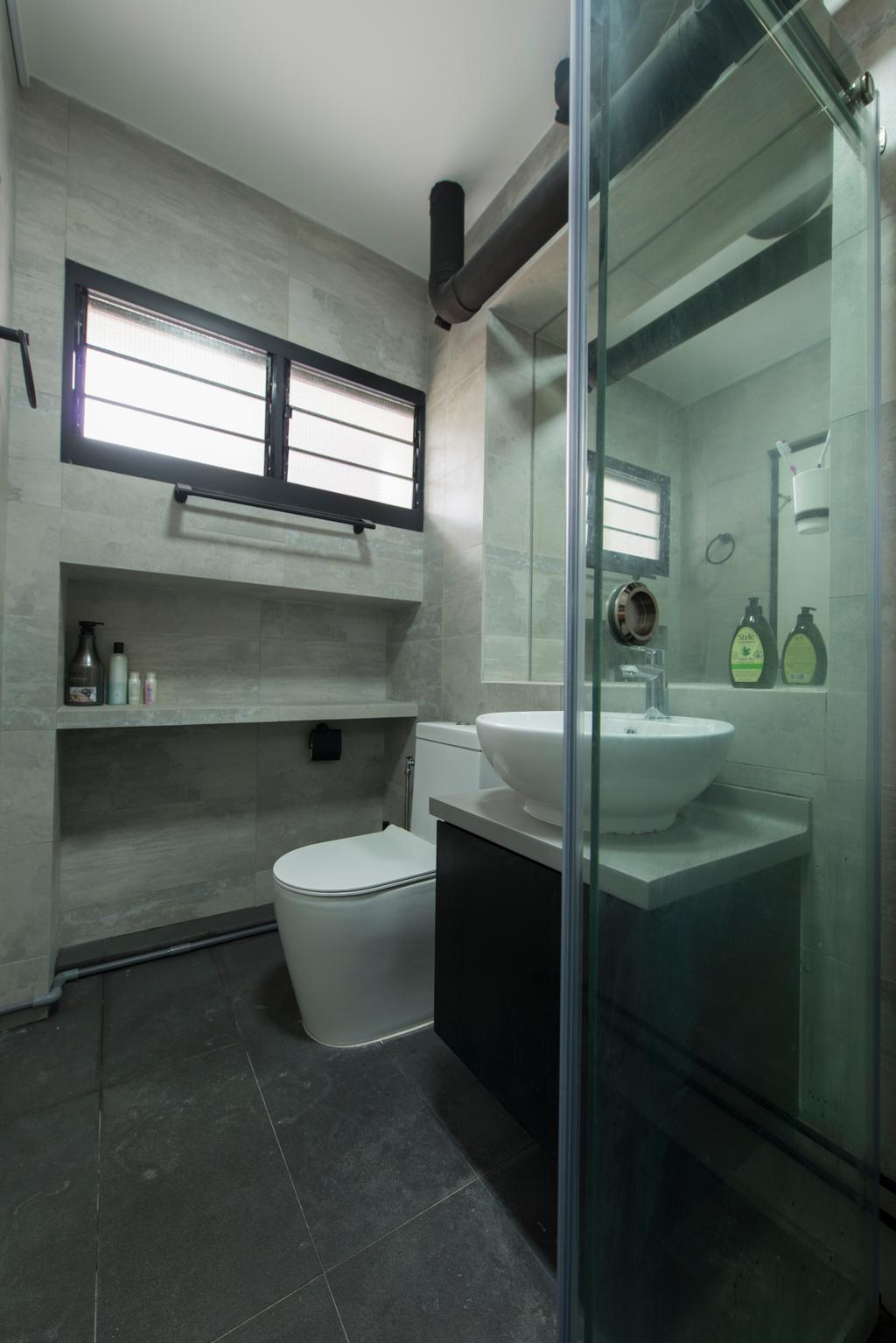 Contemporary, HDB, Bathroom, Boon Lay Drive, Interior Designer, Forefront Interior, Sink, Architecture, Building, Skylight, Window, Indoors, Interior Design, Room