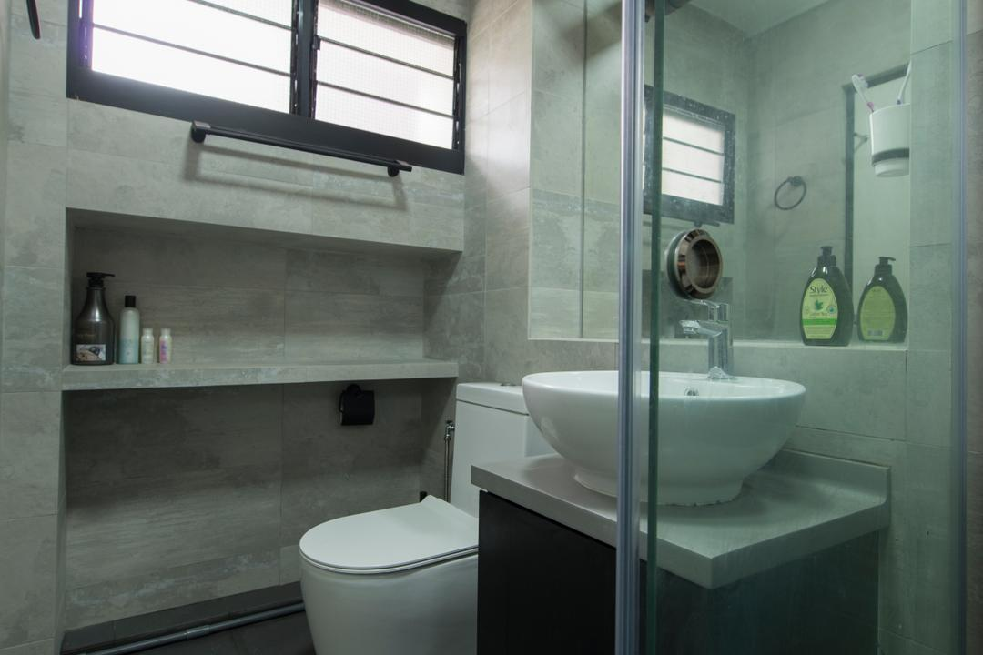 Boon Lay Drive, Forefront Interior, Contemporary, Bathroom, HDB, Sink, Architecture, Building, Skylight, Window, Indoors, Interior Design, Room