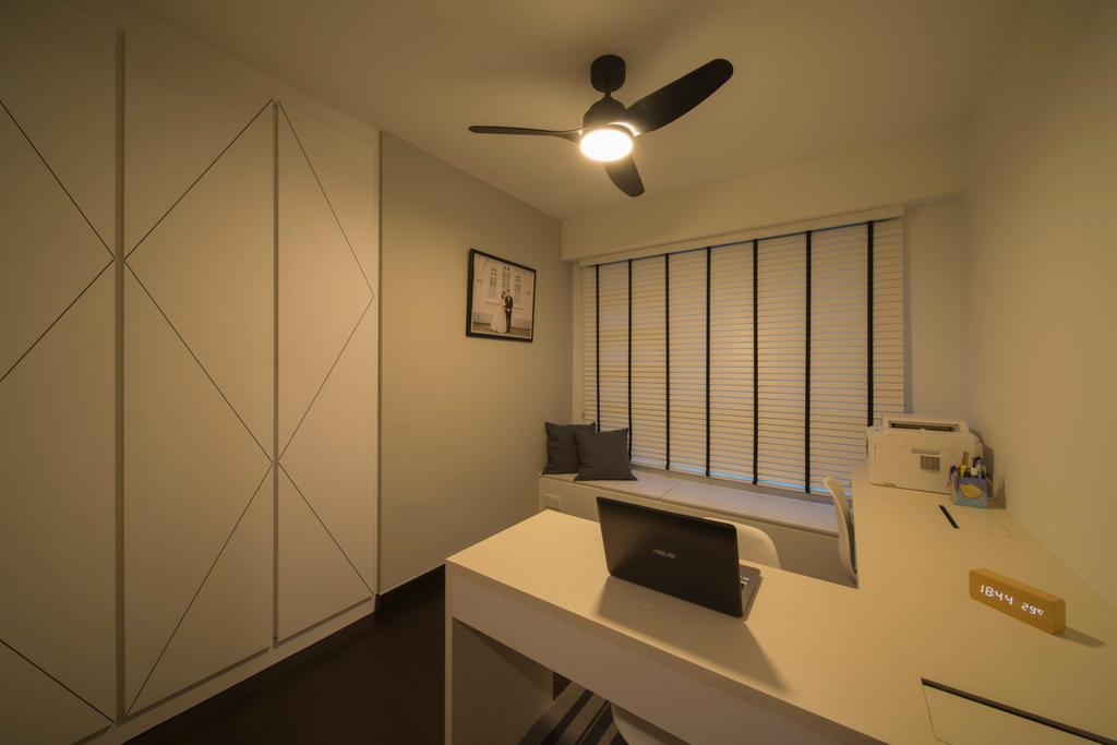 HDB, Study, Bukit Batok Street 22, Interior Designer, Forefront Interior, Indoors, Interior Design