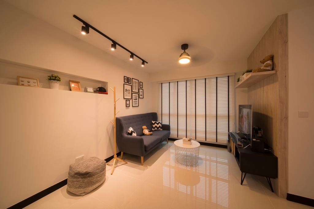 HDB, Living Room, Bukit Batok Street 22, Interior Designer, Forefront Interior, Couch, Furniture, Building, Housing, Indoors