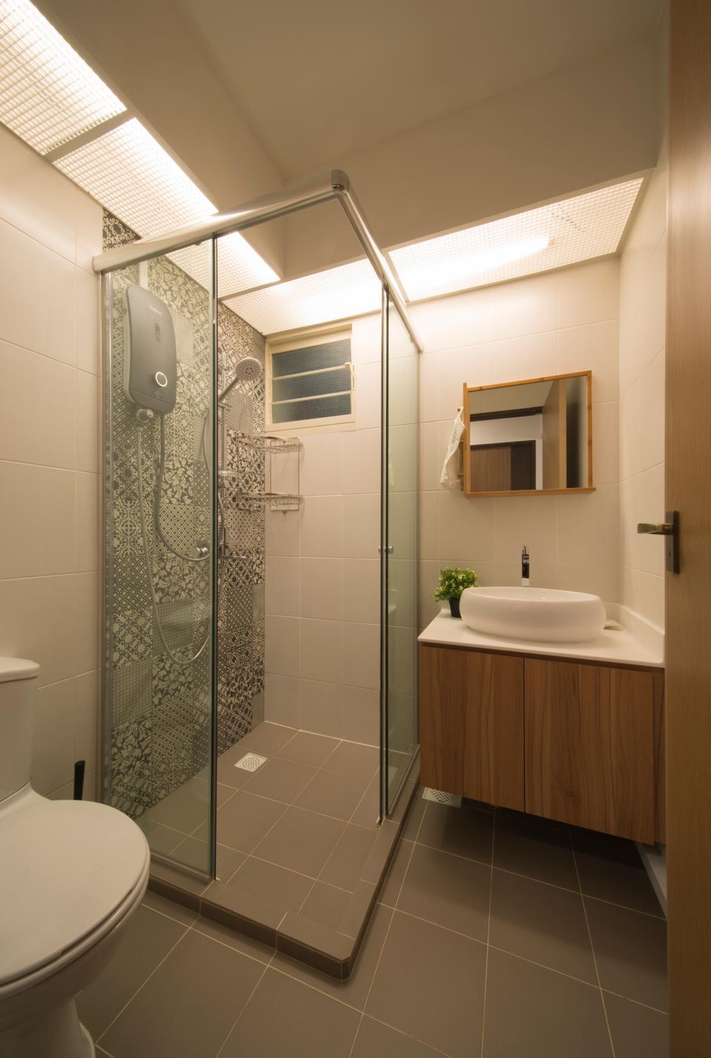 HDB, Bathroom, Bukit Batok Street 22, Interior Designer, Forefront Interior, Indoors, Interior Design, Room