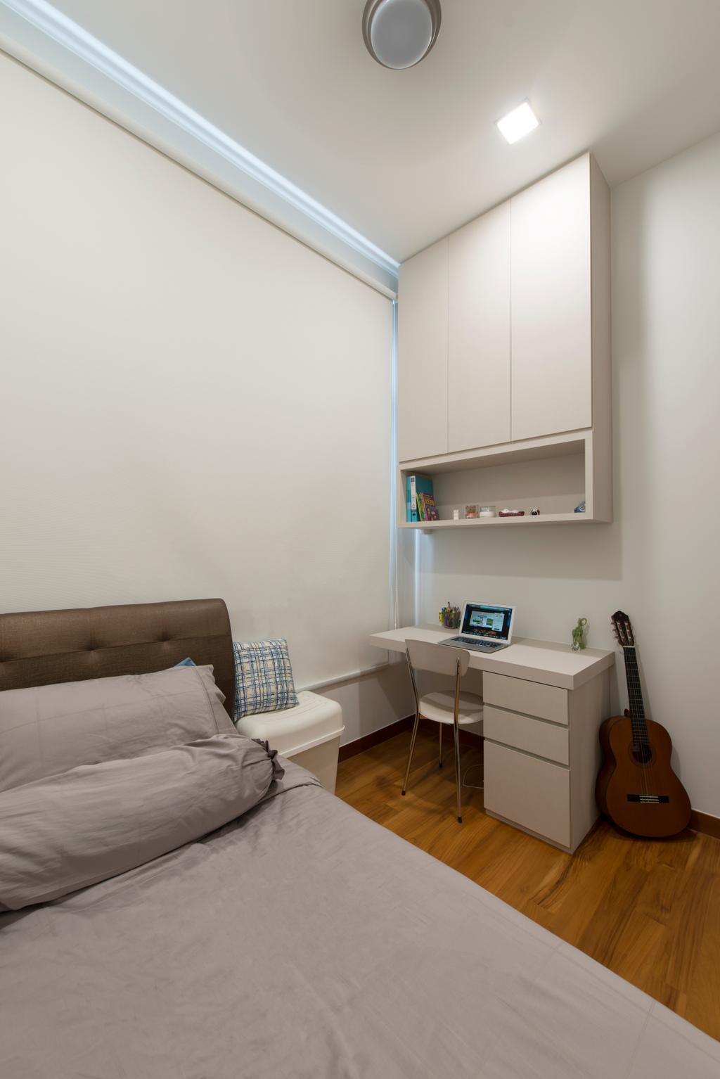 Modern, Condo, Bedroom, Eco Sanctuary, Interior Designer, Forefront Interior, Couch, Furniture, Shelf, HDB, Building, Housing, Indoors