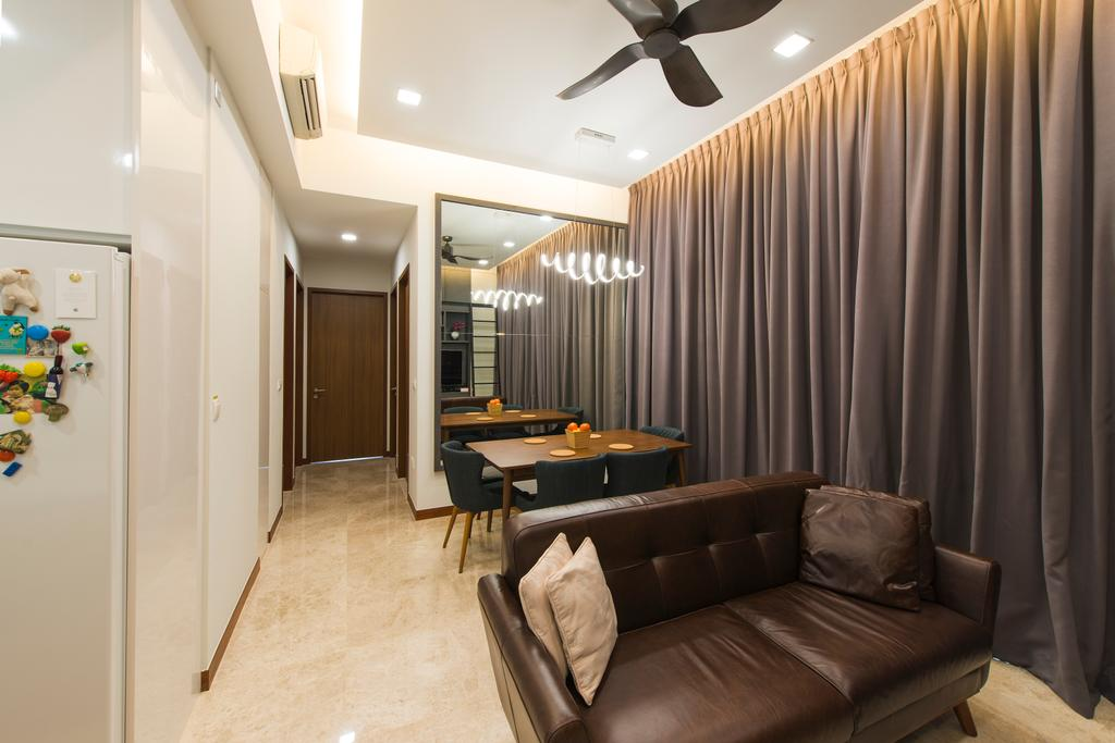 Modern, Condo, Living Room, Eco Sanctuary, Interior Designer, Forefront Interior, Couch, Furniture, Chair